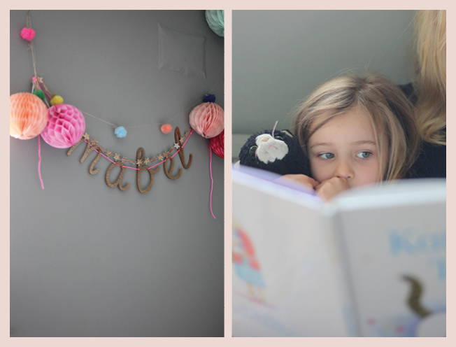 Things and People: Mabel and her name garland
