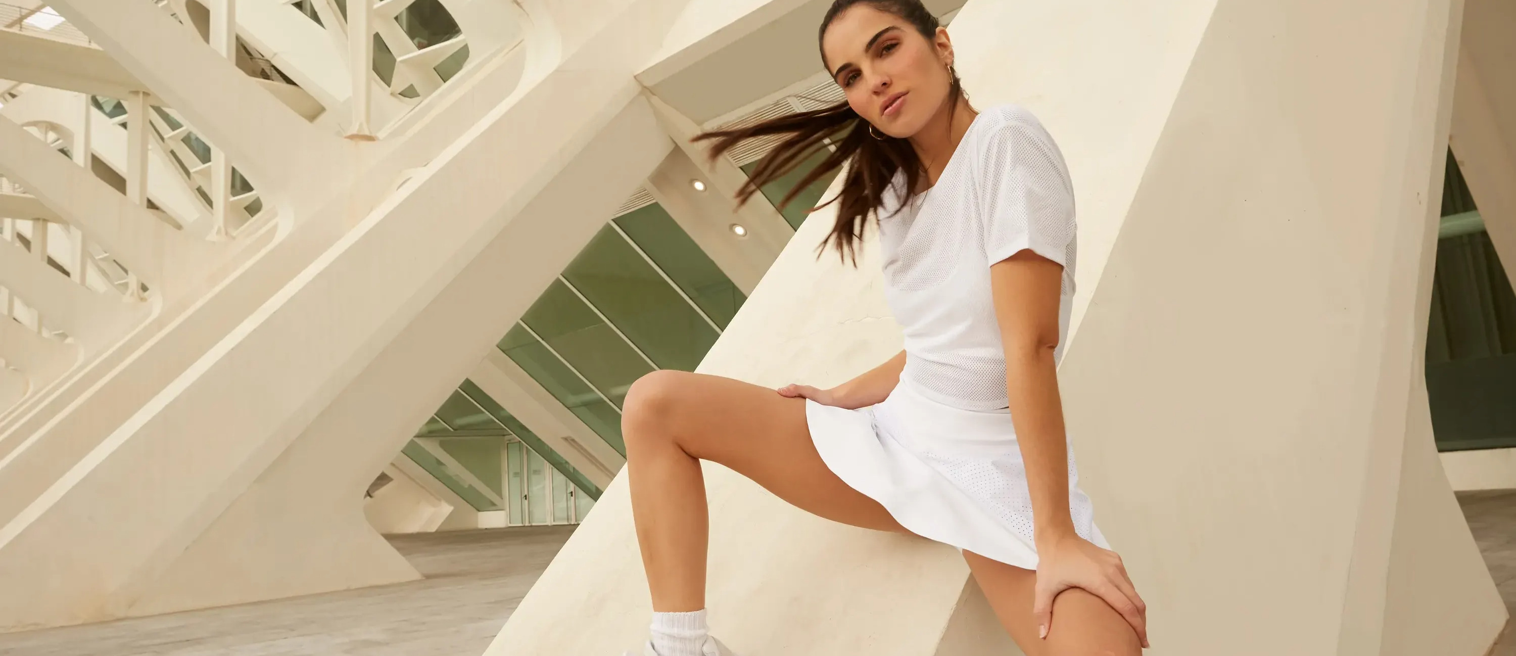 Shop the Tennis Capsule featuring the Tie Back Mesh Tee and Rally Skort