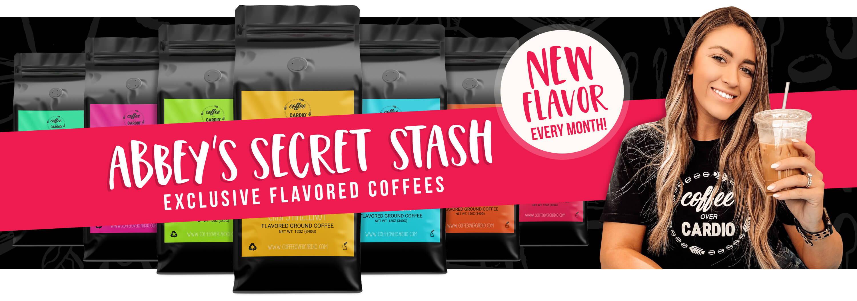 Abbey Scott - Abbey Secret Stash - Exclusive Flavored Coffees - Flavored Coffees - Coffee Subscription - Coffee Over Cardio®