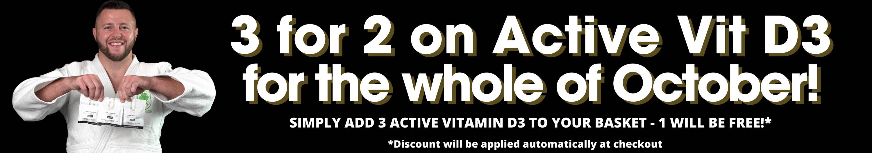 U Perform Active Vitamin D3 October offer 3 for 2