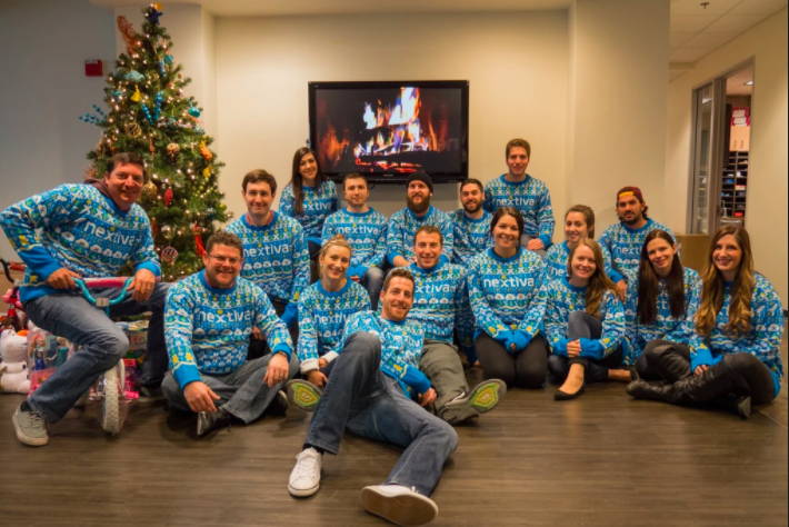 Nextiva Custom Christmas  Sweater