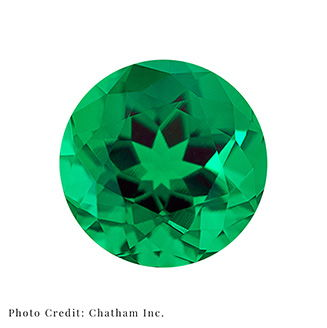 Polished Green Laboratory Grown Gemstone