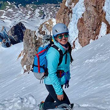 NW Alpine Ambassador Theresa Silveyra Climbing Mt. Hood