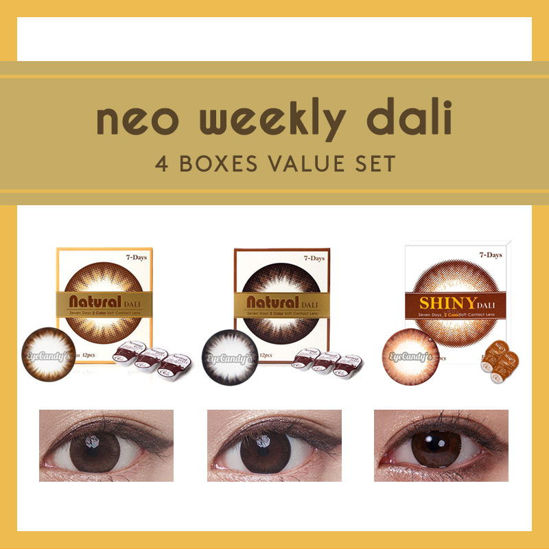 NEO Weekly Dali circle lenses, 4 Box Value Set