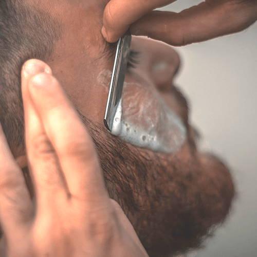 Shaving Beard using Straight Razor