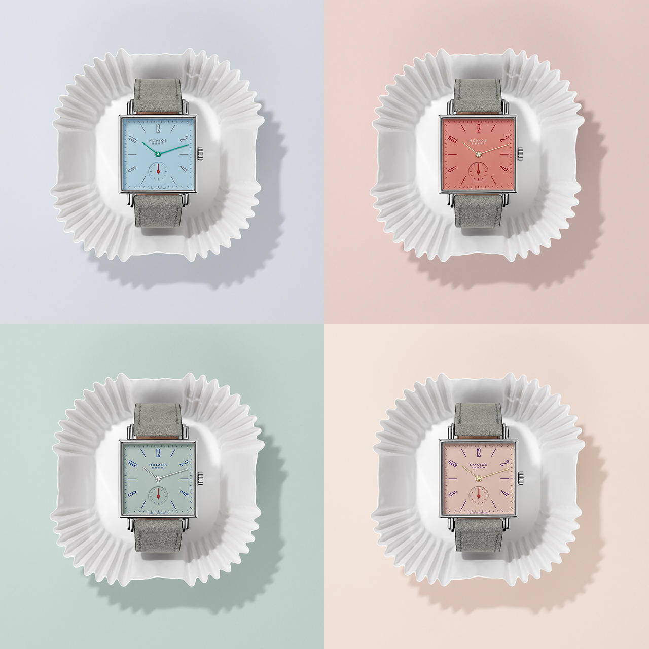 Nomos Tetra Petit Four Series Timepieces