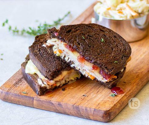 rachel sandwich with spiced apple