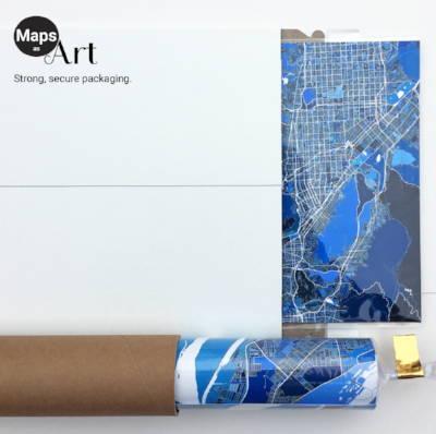 Maps As Art packaging