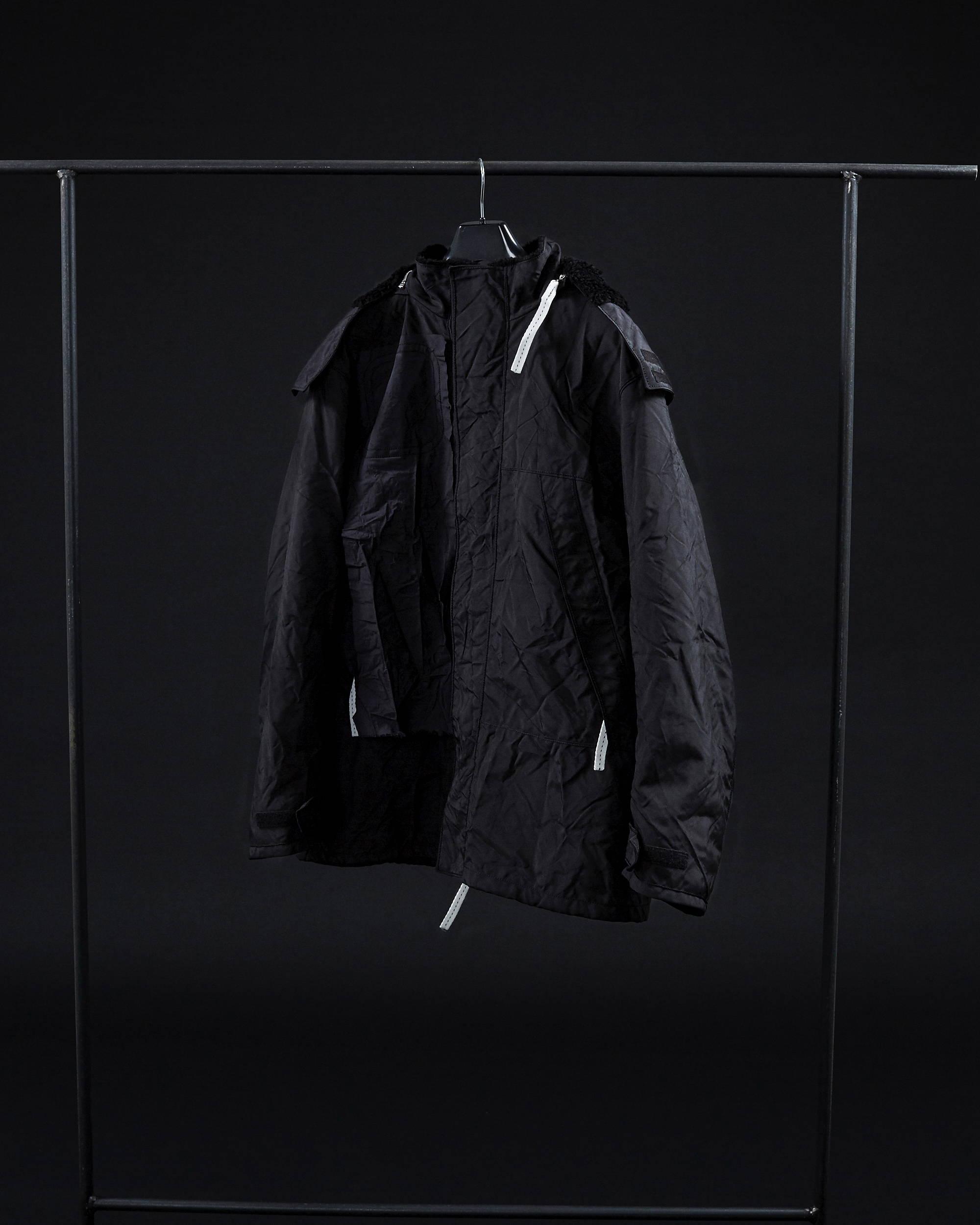 Knaghyuk FW18 Faux Fur Hooded Windbreaker Shearling Coat - Hlorenzo