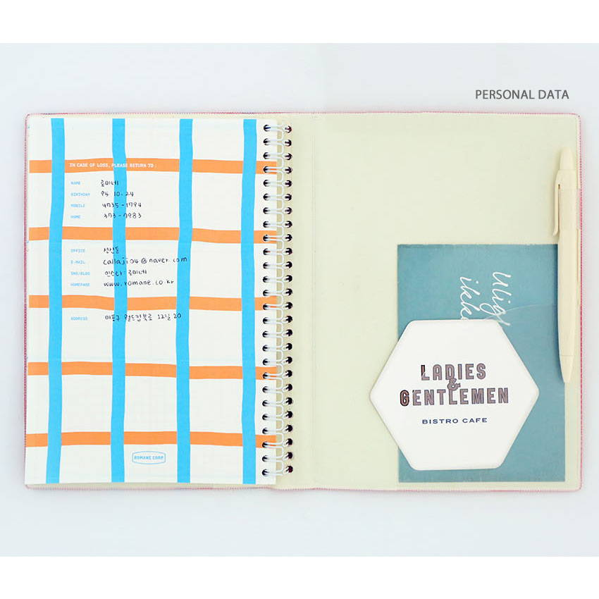 Personal data - Romane 2020 Eat play work 365 dated daily diary planner
