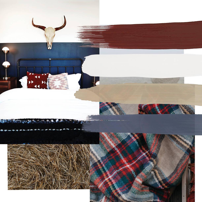 Rustic interior design style moodboard