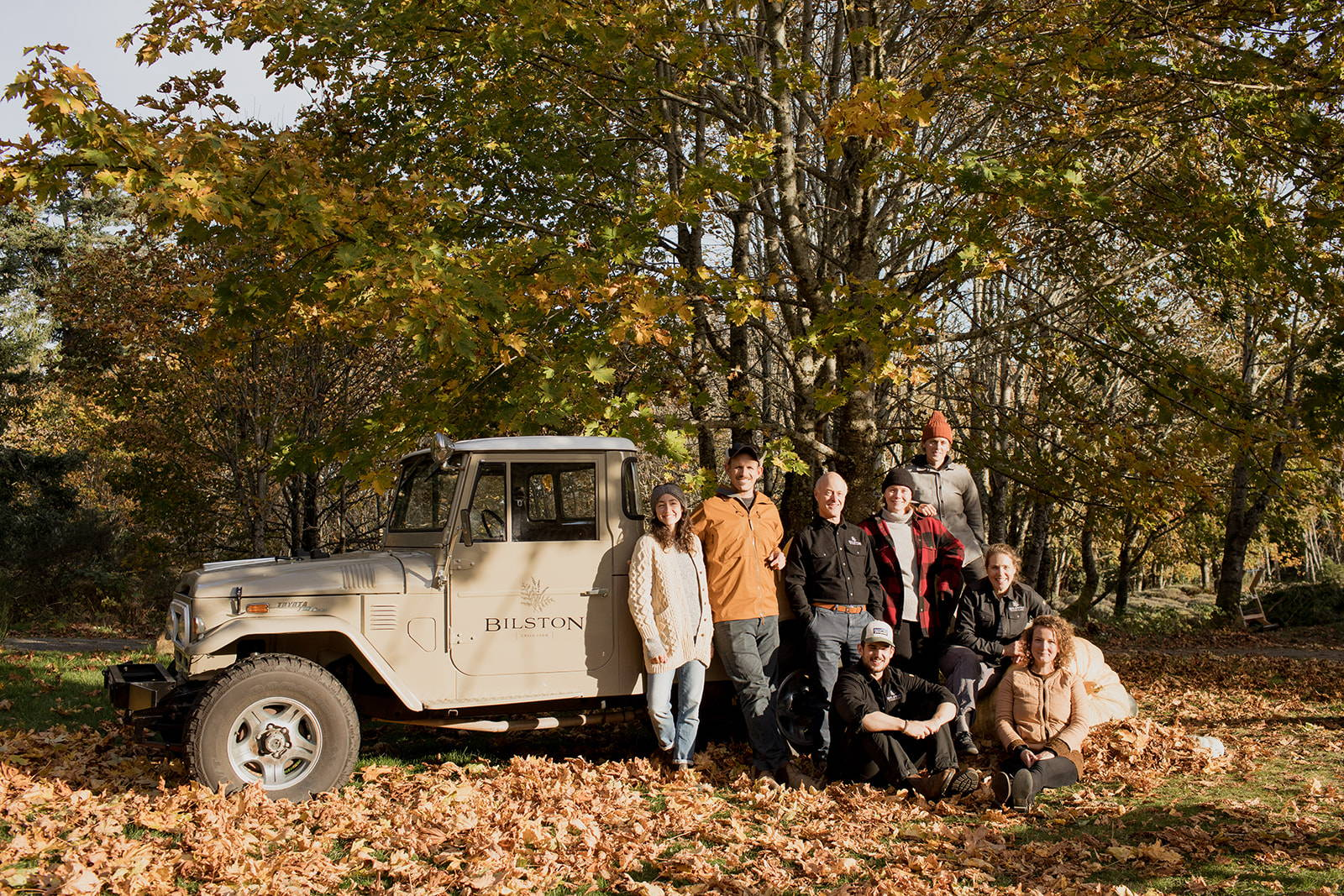 farmers with farm truck