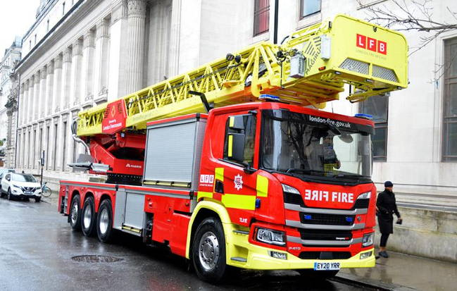 London Fire Brigade aerial appliance