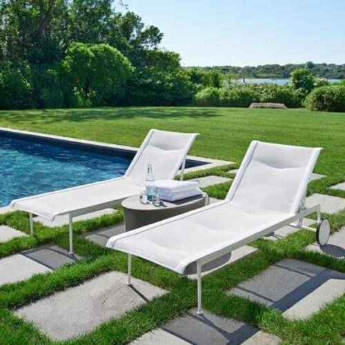 Modern Outdoor Chaise Lounges - Knoll 1966 Adjustable Chaise Lounge