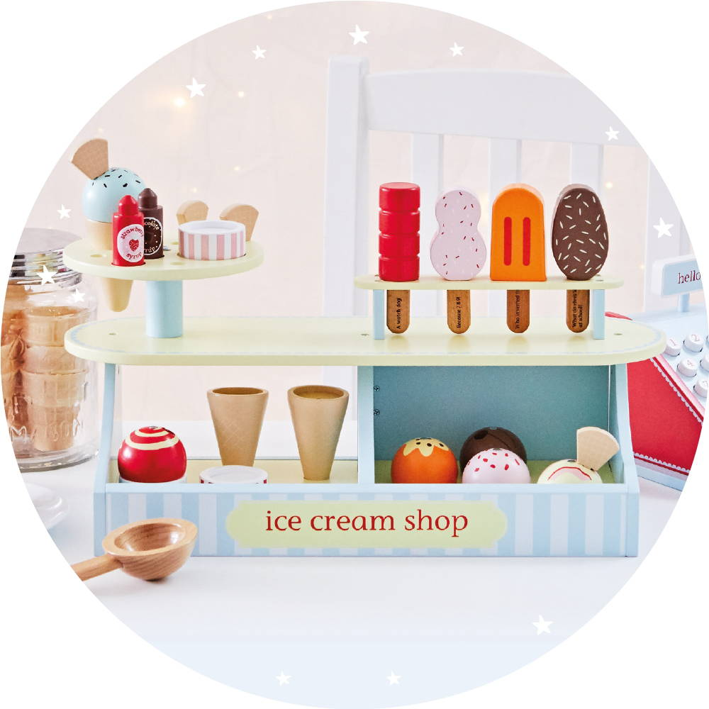 Wooden toy ice cream shop