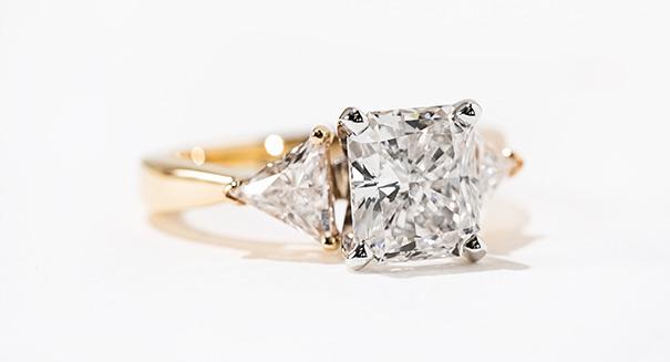 Selma Three Stone Engagement Ring