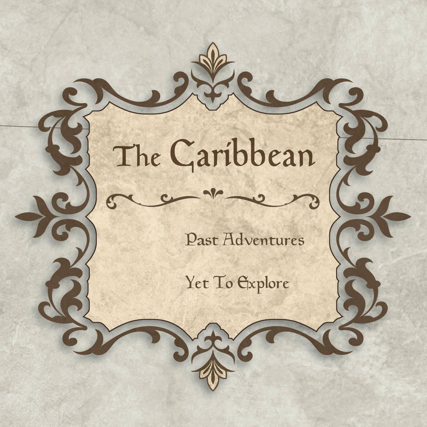 Conquest Maps Rustic Vintage Caribbean Legend