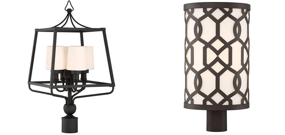 Crystorama - Lantern & Post Mount - Outdoor Lighting