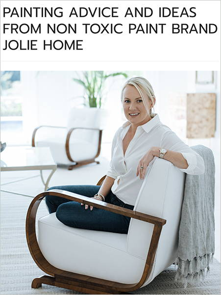 Pulled Painting Advice from Non Toxic Paint Brand Jolie Home