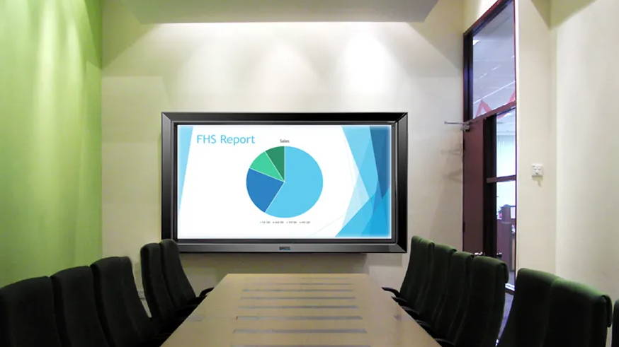 commercial display tv for business and corporate in conference room