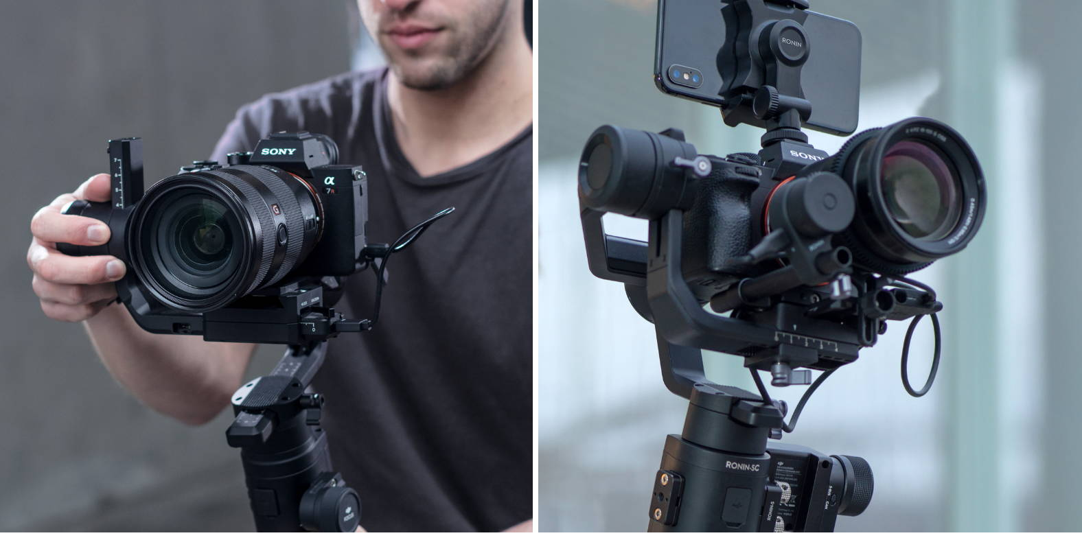 DJI RONIN-S VS DJI RONIN-SC side by side