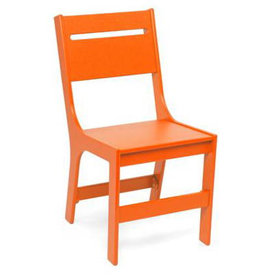 Modern Orange Outdoor Dining Chairs
