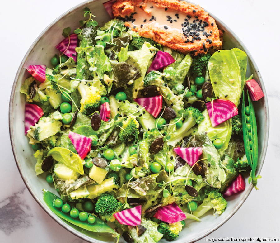 green goddess spring salad