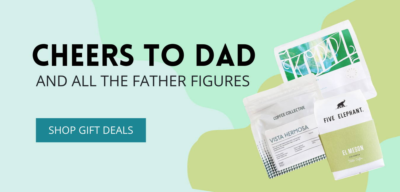 Father's Day Coffee Gift Deal Banner