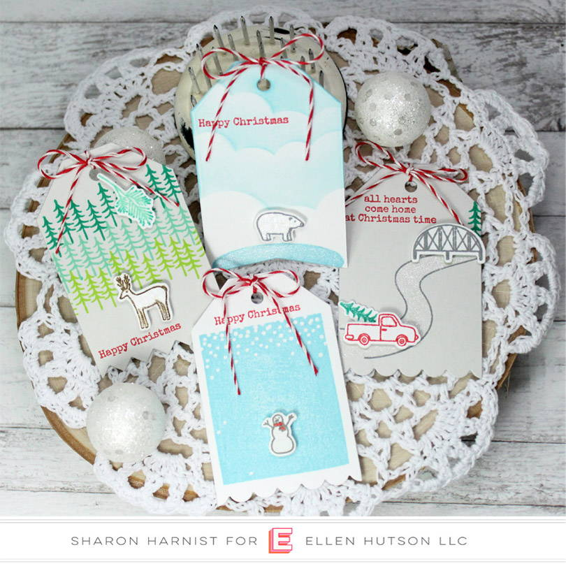 Essentials by Ellen Over The River tags by Sharon Harnist