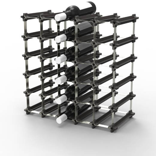 Large wine rack for 25 bottles