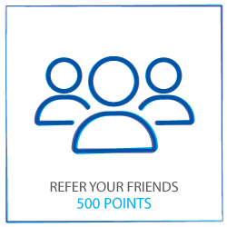 Refer a friend to earn 500 points