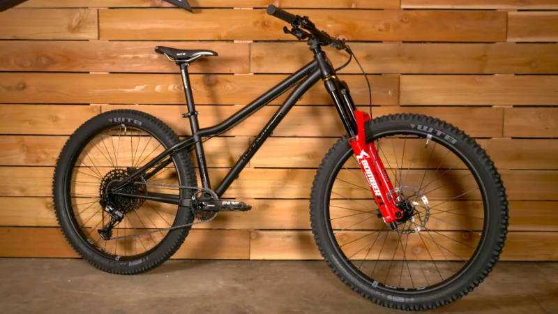 2019 chromag stylus hardtail mountain bike black marzocchi bomber red
