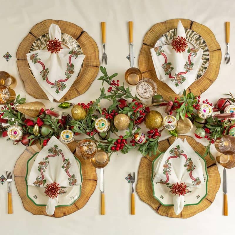 Christmas table overhead image