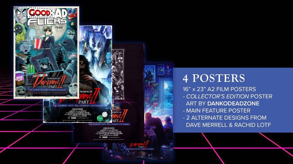 In Search of Darkness: Part 2, Good Bad Flicks collector's edition poster package