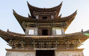 Center ediface Double Dragon Bridge in Jian Shui