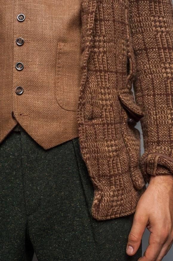 green- pleated-tweed-pants