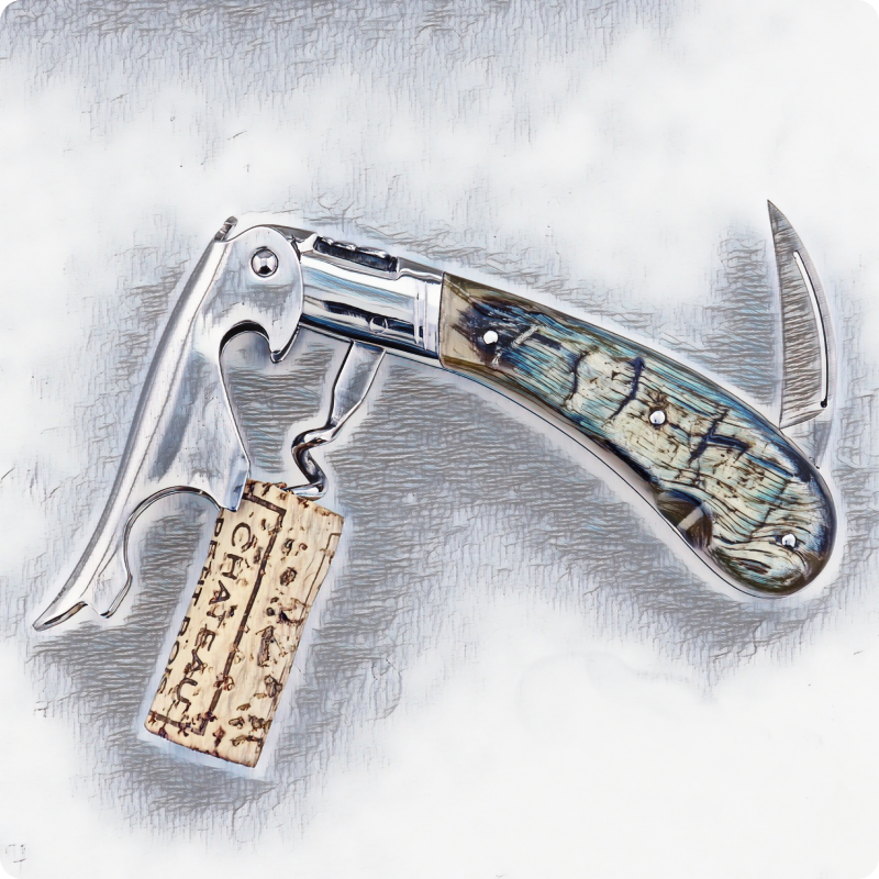 laguiole magnum corkscrew top view for collection