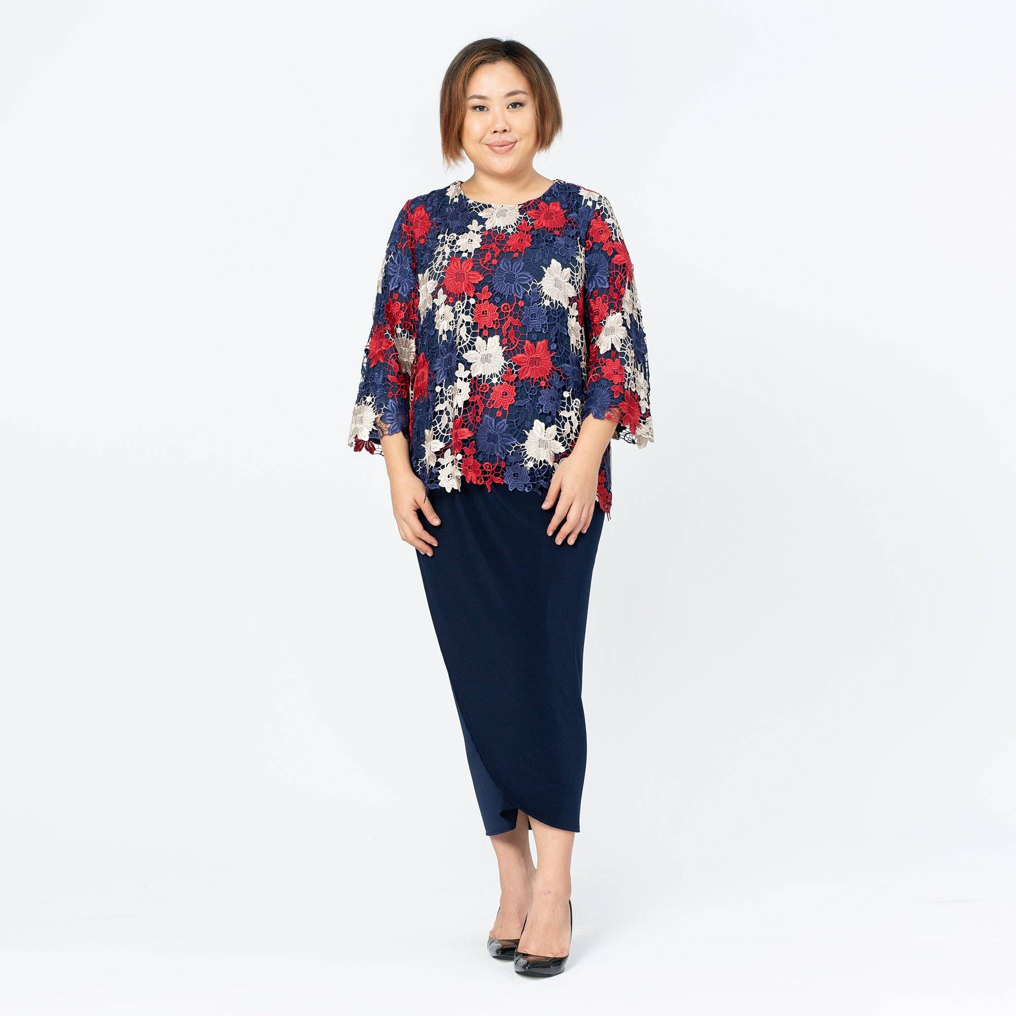 MS. READ Lace Boat Neck Top