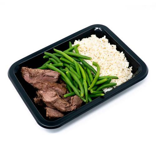 Beef Medallions, Rice & Green Beans