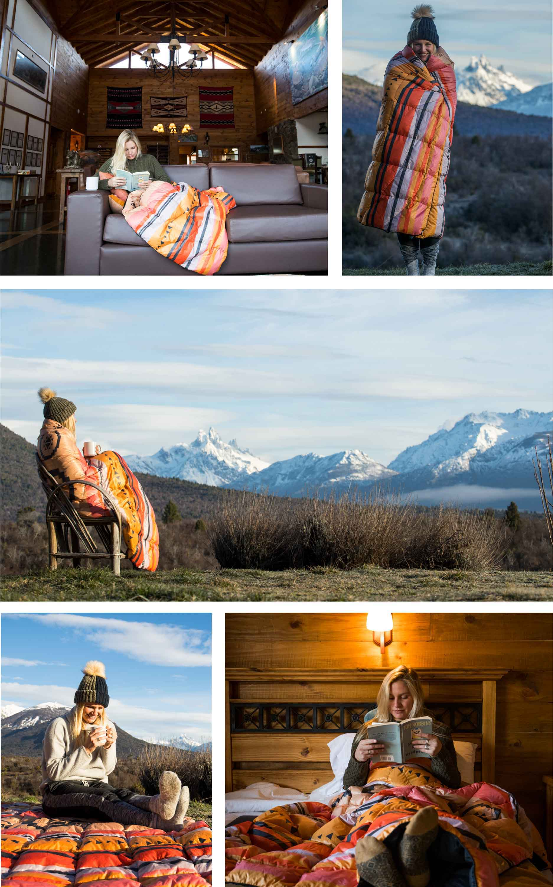 Collage of images in different places of Patagonia