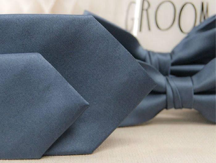 Dusty blue wedding ties
