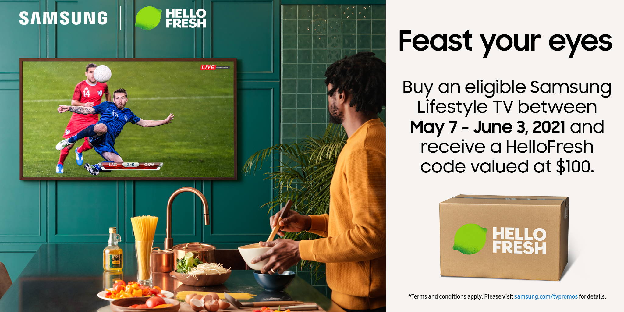 Samsung Lifestyle TVs and HelloFresh    BAX Audio Video