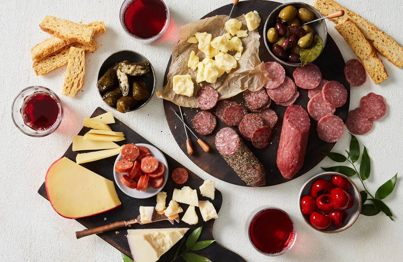 assorted charcuterie items