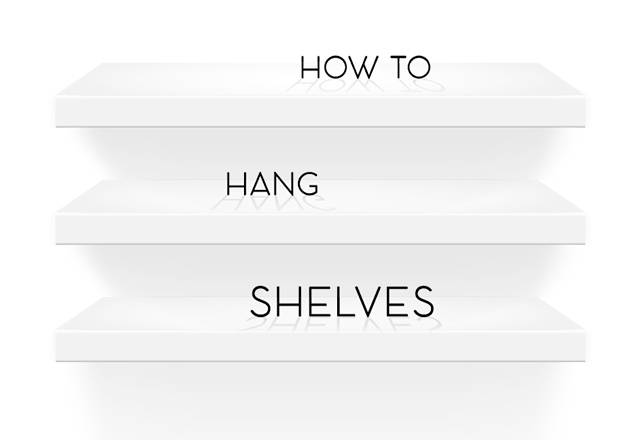 how to level shelves without a level