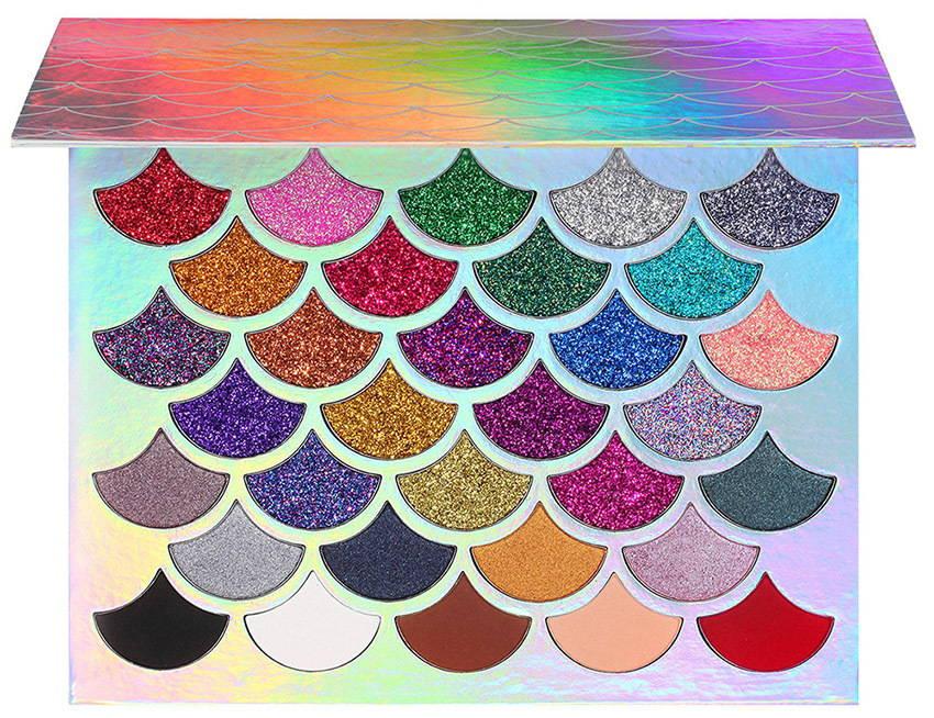 the original mermaid glitter palette cleof cosmetics