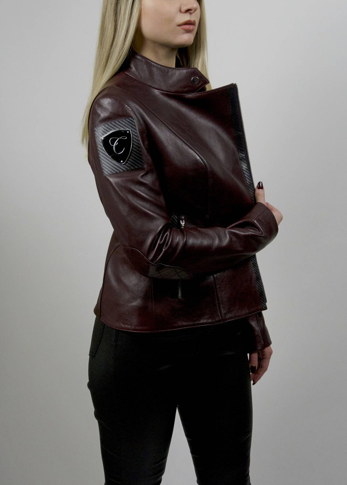 Carbonesque womens cheri leather jacket