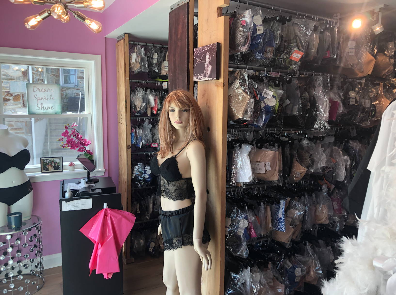 Hourglass Lingerie's Inventory Storeroom