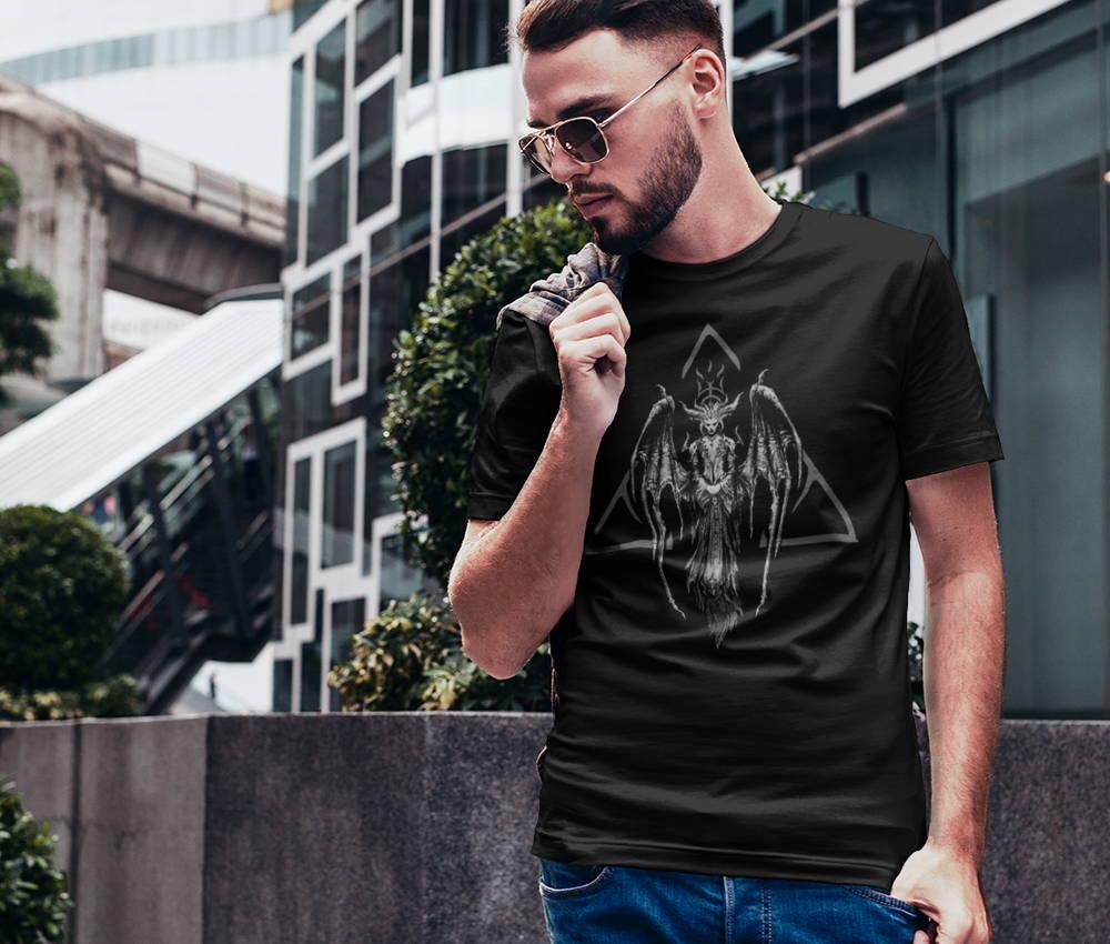 Male model wearing a Diablo IV tee