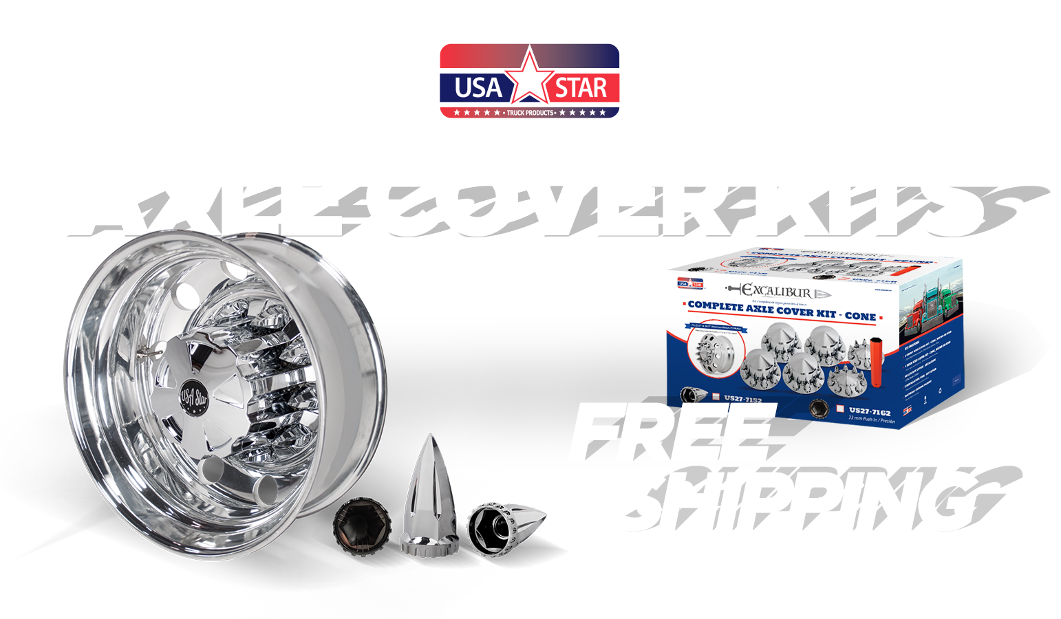 Axle Cover Kits with Free Shipping