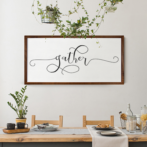 shop our warehouse wood framed signs